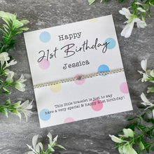Load image into Gallery viewer, Happy 21st Birthday Beaded Bracelet-5-The Persnickety Co