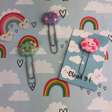 Load image into Gallery viewer, Happy Cloud Resin Paper Clip-6-The Persnickety Co