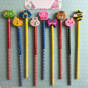 Happy Day Animal Rubber Topped Pencil-5-The Persnickety Co