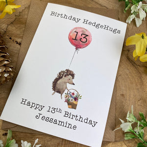 Birthday Hedgehugs - Personalised Card-5-The Persnickety Co