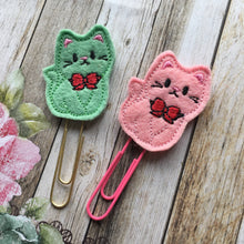 Load image into Gallery viewer, Felt Cat Paper Clip-5-The Persnickety Co