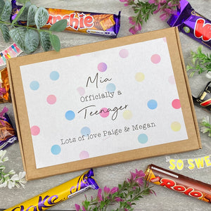 Officially A Teenager Personalised Chocolate Box-7-The Persnickety Co