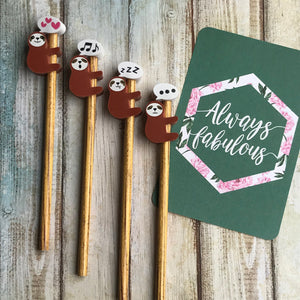Sloth Pencil With Sloth Eraser Topper-The Persnickety Co