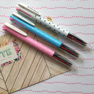 Polka Dot 4 Colour Ballpoint Pen-5-The Persnickety Co