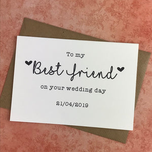 To My Best Friend on your Wedding Day-2-The Persnickety Co