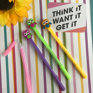 Colourful Owl Gel Pen-8-The Persnickety Co