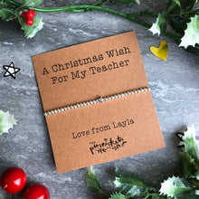 Load image into Gallery viewer, A Christmas Wish For My Teacher-4-The Persnickety Co