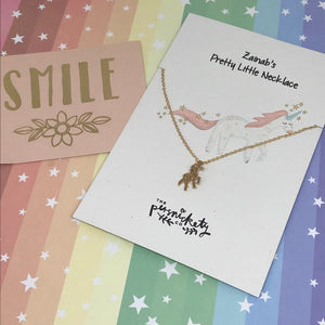 Personalised Unicorn Necklace-2-The Persnickety Co