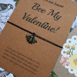 Bee My Valentine Wish Bracelet-2-The Persnickety Co