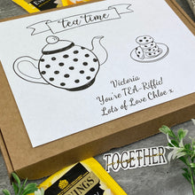 Load image into Gallery viewer, You're TEA-Riffic Personalised Tea and Biscuit Box-4-The Persnickety Co