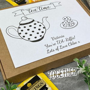 You're TEA-Riffic Personalised Tea and Biscuit Box-4-The Persnickety Co