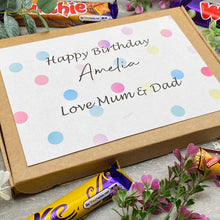 Load image into Gallery viewer, Personalised Birthday Chocolate Gift Box-9-The Persnickety Co