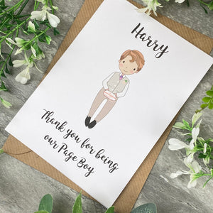 Thank You For Being Our Pageboy Card-6-The Persnickety Co