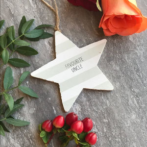 Favourite Uncle Wooden Hanging Star By Gisela Graham-2-The Persnickety Co