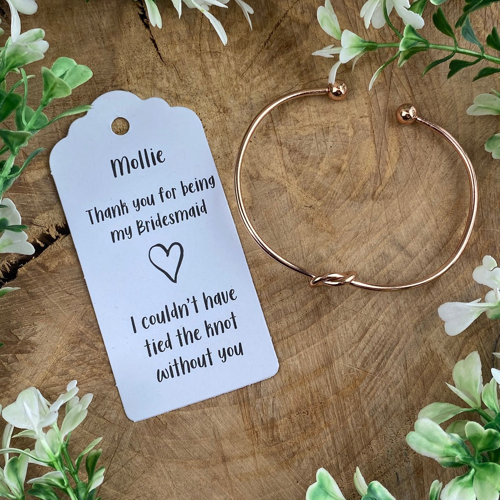 Knot Bangle - Bridesmaid Thank You-The Persnickety Co