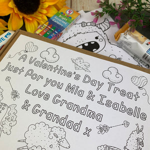 Personalised Colouring In Kinder Treat Box