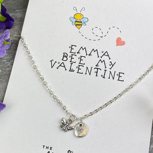 Bee My Valentine Necklace-5-The Persnickety Co