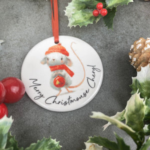 Personalised Christmouse Hanging Decoration-4-The Persnickety Co