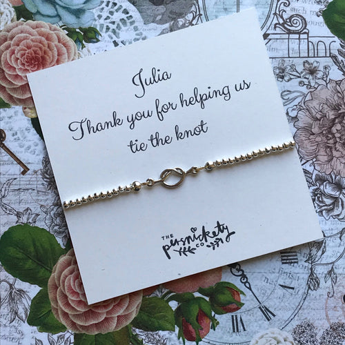 Beaded Charm Bracelet - Thank You For Helping Us Tie The Knot-The Persnickety Co