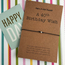 Load image into Gallery viewer, A 40th Birthday Wish - Star-4-The Persnickety Co
