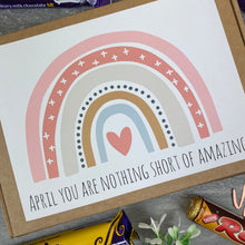 Load image into Gallery viewer, You Are Nothing Short Of Amazing Personalised Chocolate Box-4-The Persnickety Co
