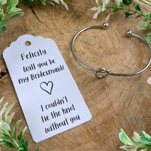 Load image into Gallery viewer, Will You Be My Bridesmaid Knot Bangle-9-The Persnickety Co