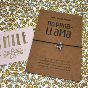 No Prob Llama Wish Bracelet-10-The Persnickety Co