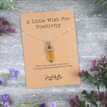 Load image into Gallery viewer, Crystal Necklace  - A Little Wish For Positivity