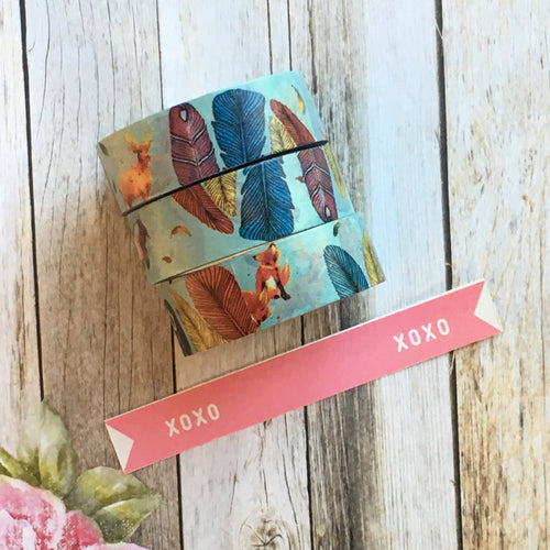 Fox & Feather Washi Tape-The Persnickety Co