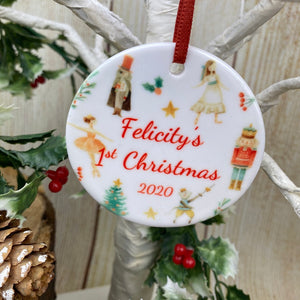 Nutcracker Babies 1st Christmas Hanging Decoration-4-The Persnickety Co