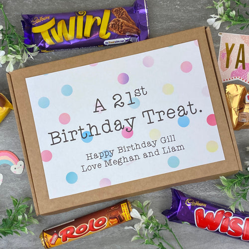 21st Birthday Personalised Chocolate Box-The Persnickety Co