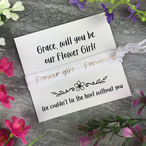 Flower Girl Proposal Hair Tie / Wrist Band-8-The Persnickety Co