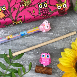 Owl Stationery Set - Pink-2-The Persnickety Co