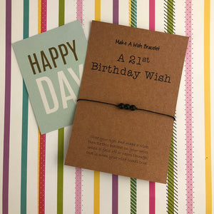 A 21st Birthday Wish - Onyx-The Persnickety Co