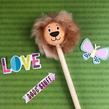 Load image into Gallery viewer, Lion Pencil with Fluffy Mane-The Persnickety Co
