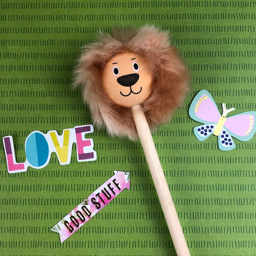 Lion Pencil with Fluffy Mane-The Persnickety Co