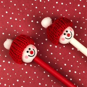 Cute Snowman Pens-4-The Persnickety Co