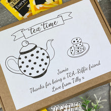 Load image into Gallery viewer, Tea-Riffic Friend Personalised Tea and Biscuit Box-2-The Persnickety Co