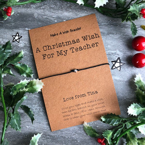 A Christmas Wish For My Teacher-The Persnickety Co