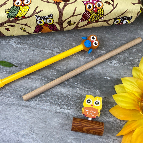 Owl Stationery Set - Yellow-The Persnickety Co