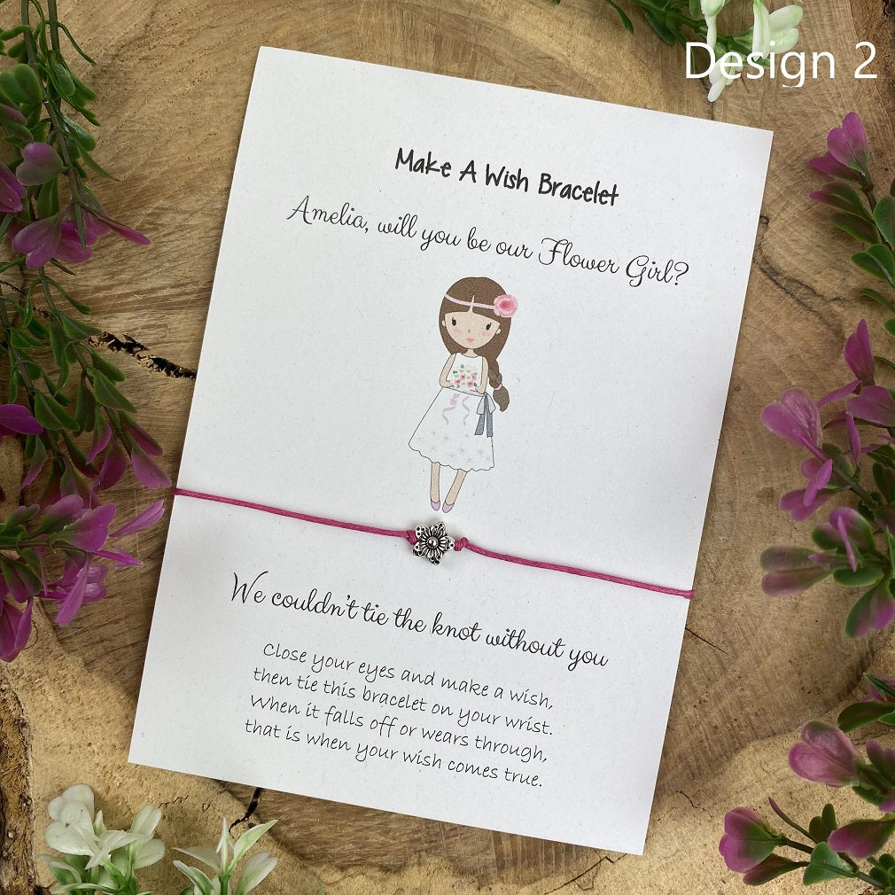 Will You Be Our Flower Girl Wish Bracelet-The Persnickety Co