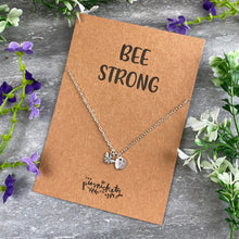 Load image into Gallery viewer, Bee Strong Necklace-2-The Persnickety Co