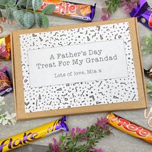 Load image into Gallery viewer, Grandad Fathers Day Treat - Personalised Chocolate Box-8-The Persnickety Co