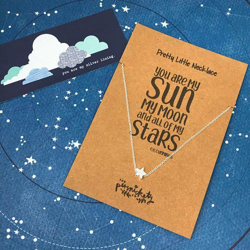 You Are My Sun My Moon And All Of My Stars Necklace-The Persnickety Co