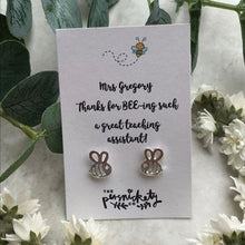 Load image into Gallery viewer, Thanks For BEE-ing Such A Great Teacher /Teaching Assistant Bee Earrings-3-The Persnickety Co