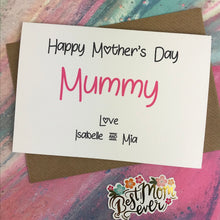 Load image into Gallery viewer, Happy Mother's Day Mummy/Mum/Mom/Mam Personalised Card-3-The Persnickety Co