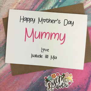 Happy Mother's Day Mummy/Mum/Mom/Mam Personalised Card-3-The Persnickety Co