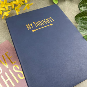 My Thoughts Journal Navy Blue-8-The Persnickety Co