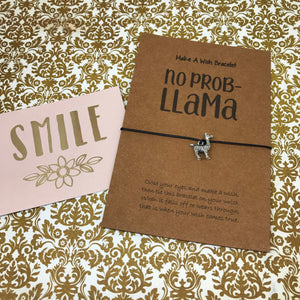 No Prob Llama Wish Bracelet-4-The Persnickety Co