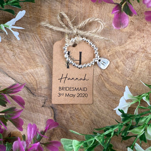 Cute Bridesmaid Beaded Ring With Initial-8-The Persnickety Co